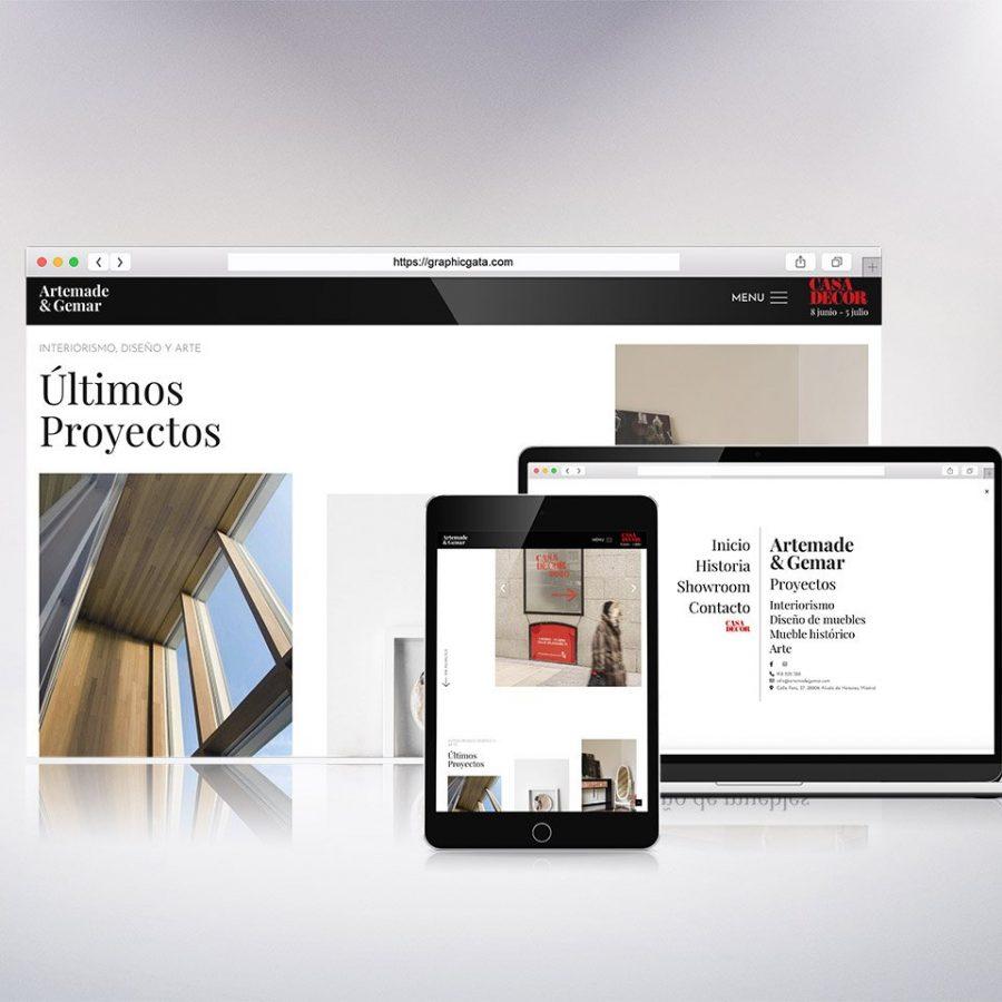 Diseño web página de interiorismo